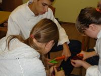 Die Schüler und Schülerinnen aus Zgorzelec und Niesky kochten bei ihren Treffen gemeinsam