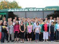 Gruppenfoto vom Sportfest der Elektroniker-Schule Boleslawiec am Förderschulzentrum