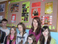 Von SChülern gestaltete Wandtafeln über das Projekt an der Zespól Szkól in Przewóz
